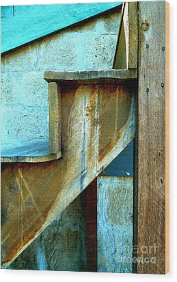 Wood Print featuring the photograph Stepping Up To The Blues by Newel Hunter