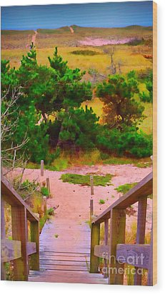 Wood Print featuring the photograph Steps - Surfside Beach by Jack Torcello