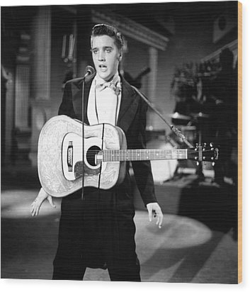 Steve Allen Show, 1956-61, Elvis Wood Print by Everett