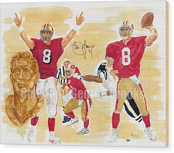 Steve Young - Hall Of Fame Wood Print by George  Brooks