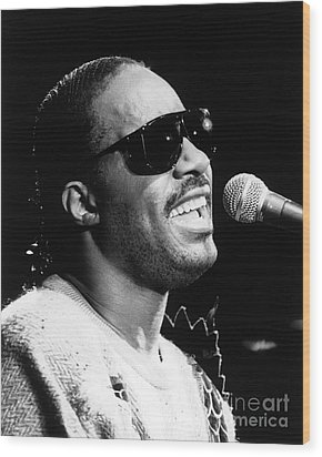 Stevie Wonder 1986 Wood Print by Chris Walter