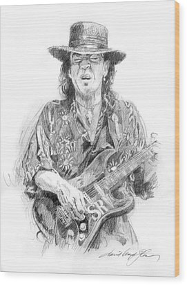 Stevie's Blues Wood Print by David Lloyd Glover