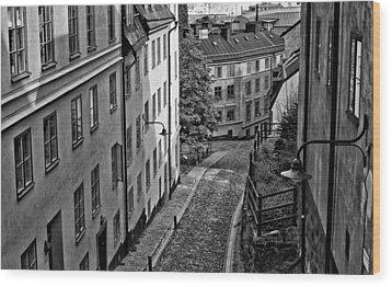 Wood Print featuring the photograph Stieg Larsson's Stockholm by Nancy De Flon