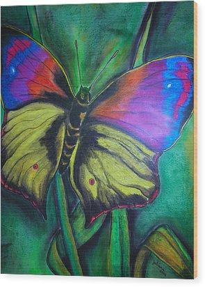 Still Butterfly Wood Print by Juliana Dube