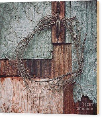 Still Decorated With A Wreath Wood Print by Priska Wettstein