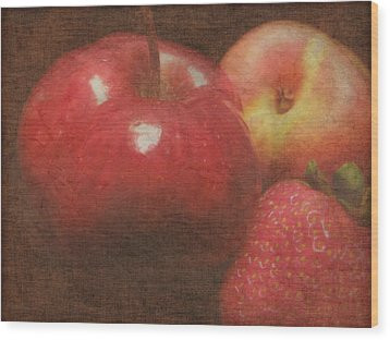 Still Life Fruit Wood Print by Cindy Wright
