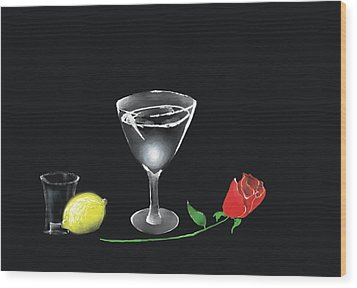 Wood Print featuring the painting Still Life by Larry Cirigliano
