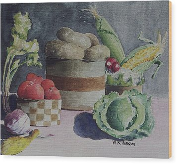 Still Life Number Four Wood Print by W R  Hersom