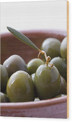 Still Life Of Spanish Campo Real Olives Wood Print by Frank Tschakert