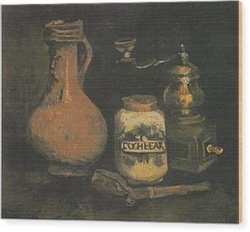 Still Life Paintings By Vincent Van Gogh Wood Print by Van Gogh
