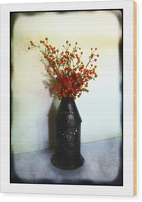 Still Life With Berries Wood Print by Judi Bagwell