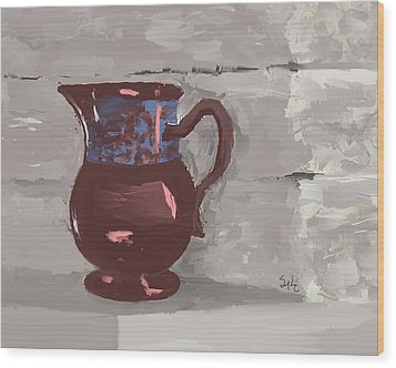 Still Life With Copper Luster Jug Wood Print by Sarah Countiss