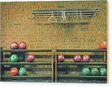 Still Life With No Glow In Dark Balls Wood Print by E. Treffly Coyne