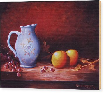 Still Life With Oranges  Wood Print by Gene Gregory