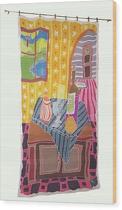 Still Life With Pear Wood Print by Rollin Kocsis