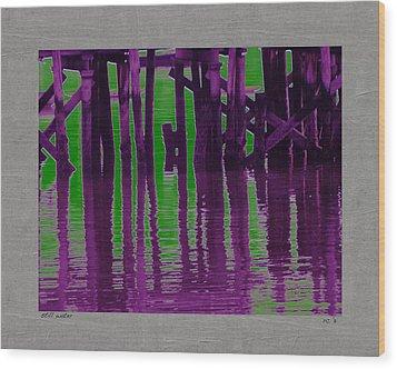 Still Water Wood Print by Rene Crystal