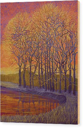 Still Waters Wood Print by Jeanette Jarmon