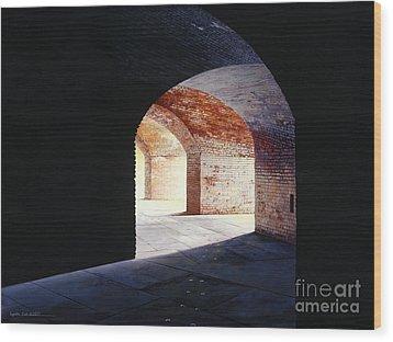 Stillness Wood Print by Lynette Cook