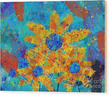 Stimuli Floral S01 Wood Print by Variance Collections