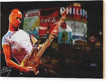 Sting In Concert Wood Print by Steve K