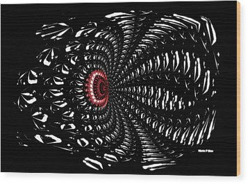 Sting Of The Black Widow Wood Print by Maria Urso