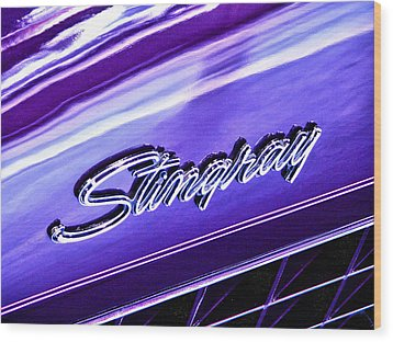 Stingray Wood Print by Bill Robinson