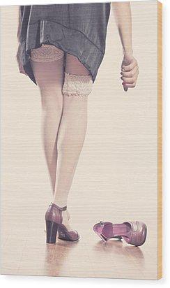 Stockings Wood Print by Joana Kruse