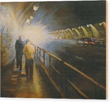 Stockton Tunnel Wood Print by Meg Biddle