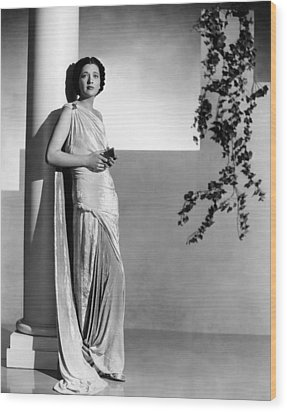 Stolen Holiday, Kay Francis, 1937 Wood Print by Everett