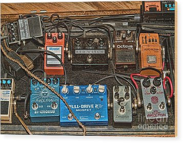 Wood Print featuring the photograph Stomp Box by Kim Wilson
