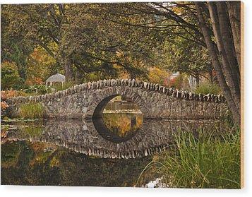 Stone Bridge Reflection Wood Print by Graeme Knox