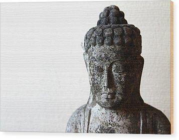 Stone Buddha Wood Print by Janita Topan