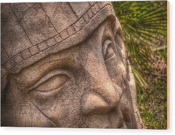 Wood Print featuring the photograph Stone Face by Joetta West