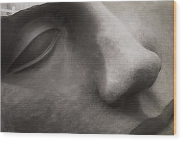 Stone Face Wood Print