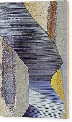 Stone Geometrics Wood Print