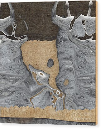 Stone Men 28 - Celebration  Wood Print by Variance Collections