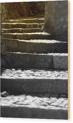Wood Print featuring the photograph Stone Steps by Emanuel Tanjala