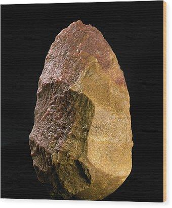 Stone Tool, Sima De Los Huesos Wood Print by Javier Truebamsf