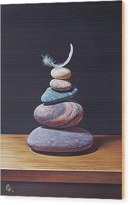 Stone Tower 1 Wood Print by Elena Kolotusha