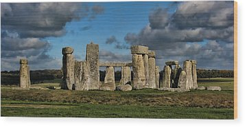 Stonehenge Wood Print by Heather Applegate