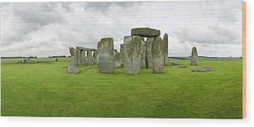 Stonehenge Stones Wood Print by Jan W Faul