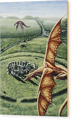 Stonehenges Call Wood Print by Kurt Jacobson