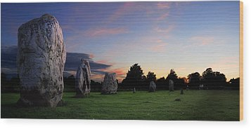 Wood Print featuring the photograph Stonehenge's Older Brother  by John Chivers