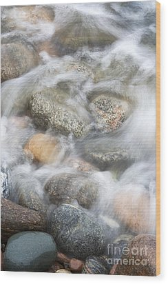 Stones In Water2 Wood Print by Johnny Hildingsson