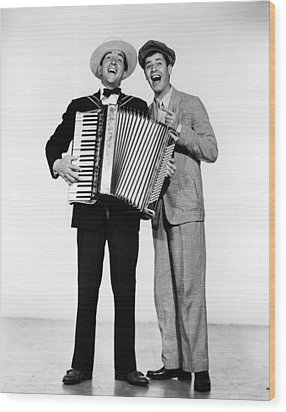 Stooge, Dean Martin, Jerry Lewis, 1952 Wood Print by Everett