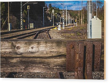 Wood Print featuring the photograph Stoppage by Matti Ollikainen