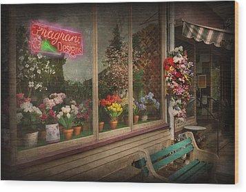 Store - Belvidere Nj - Fragrant Designs Wood Print by Mike Savad