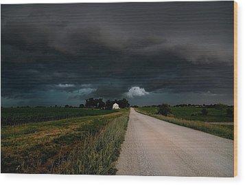 Storm Ahead Wood Print by Rick Rauzi