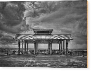 Storm Before The Calm Wood Print by Evelina Kremsdorf