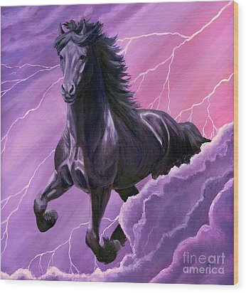 Wood Print featuring the painting Storm Chaser by Sheri Gordon